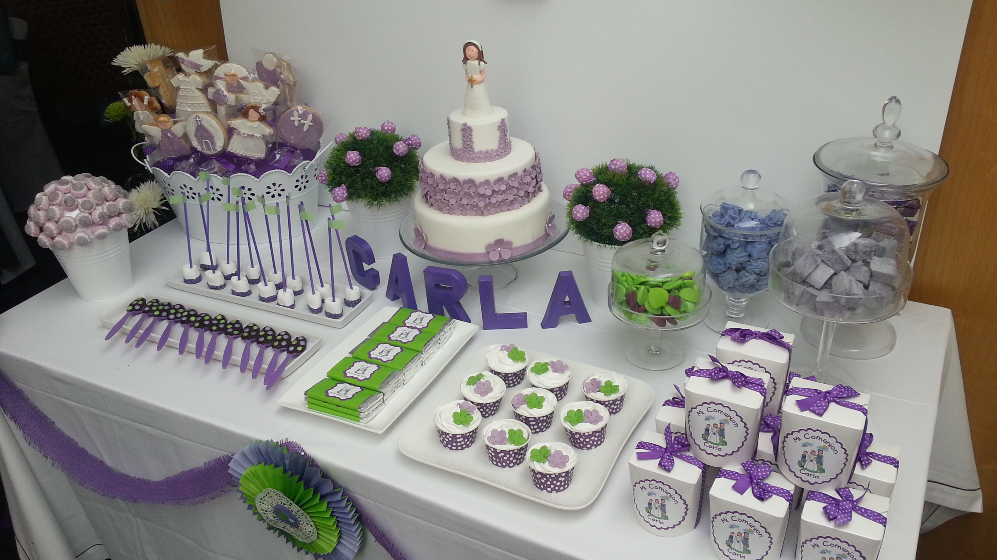 Mesas de dulces para comuni n imagui for Mesas dulces para comunion